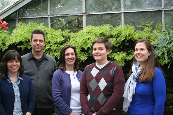 Science Education Assessment (SEA) Scholars (l-r: Lisa Wiltbank, Brian Winterman, Katie Kearns, Jakki Petzold, and Sarah Keesom).