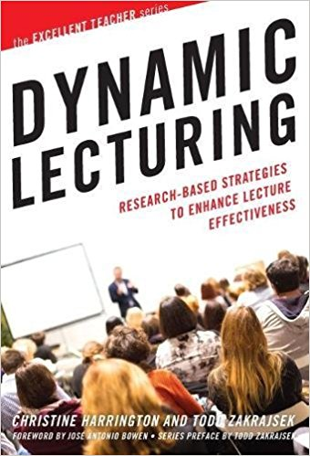 The cover of the book, Dynamic Lecturing.